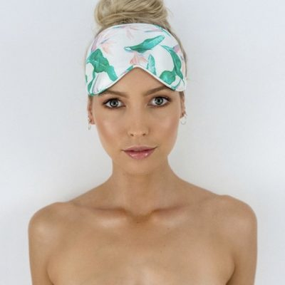 Louvelle Chloe Eye Mask in Hawaiian Bird of Paradise