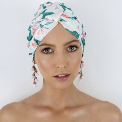 Louvelle Amelei Shower Cap in Hawaiian Bird of Paradise